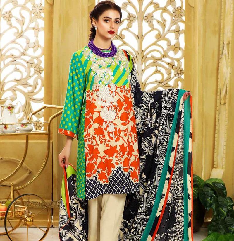 Charzima colorful winter dress for women