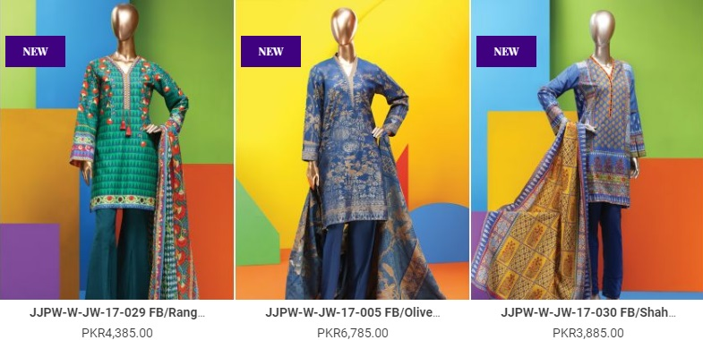 J. Junaid Jamshed Winter Collection 2018 with prices