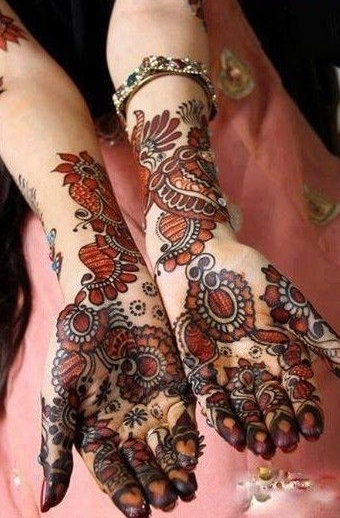 Shaded mehndi designs for brides (1)
