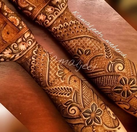 Shaded mehndi designs for brides (2)