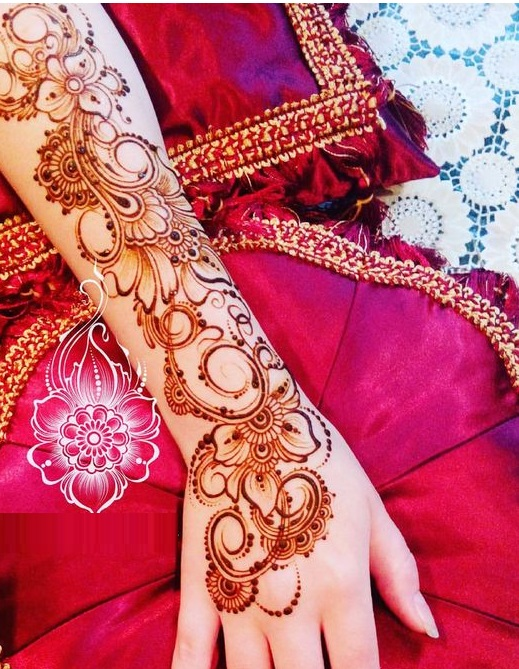 Shaded mehndi designs for brides (4)