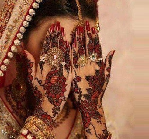 Shaded mehndi designs for brides
