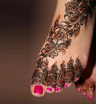 Shaded mehndi styles for feet (2)