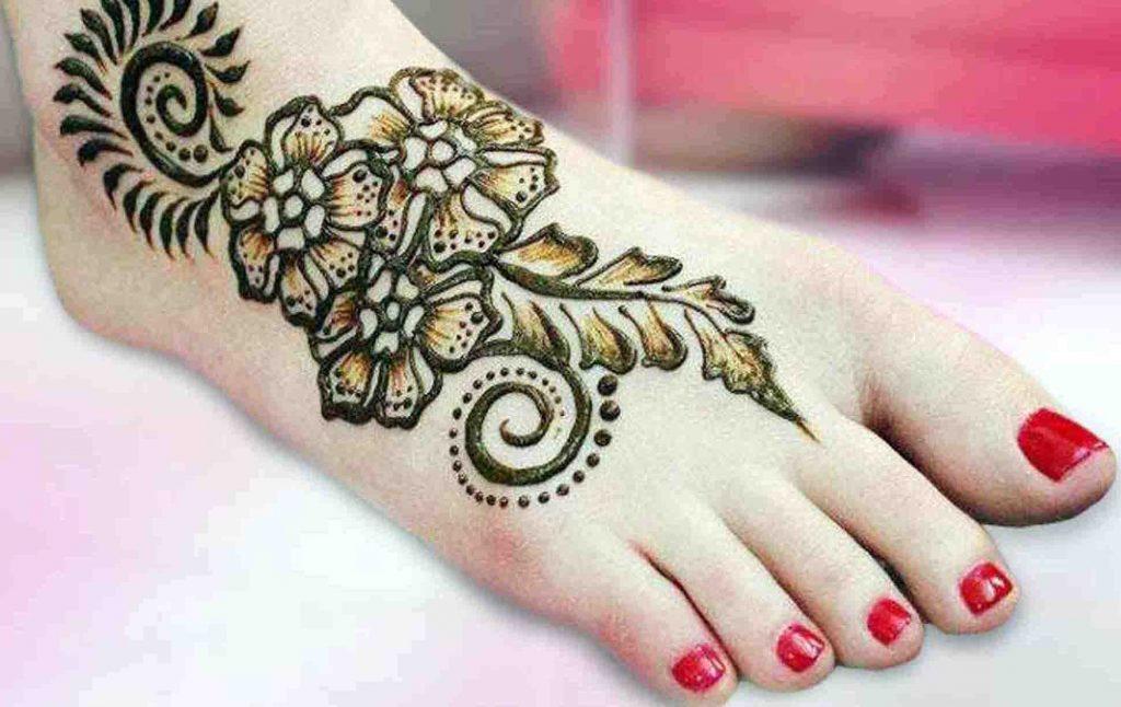 Shaded mehndi styles for feet (4)