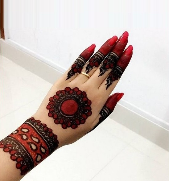 Shaded tikki style mehndi designs