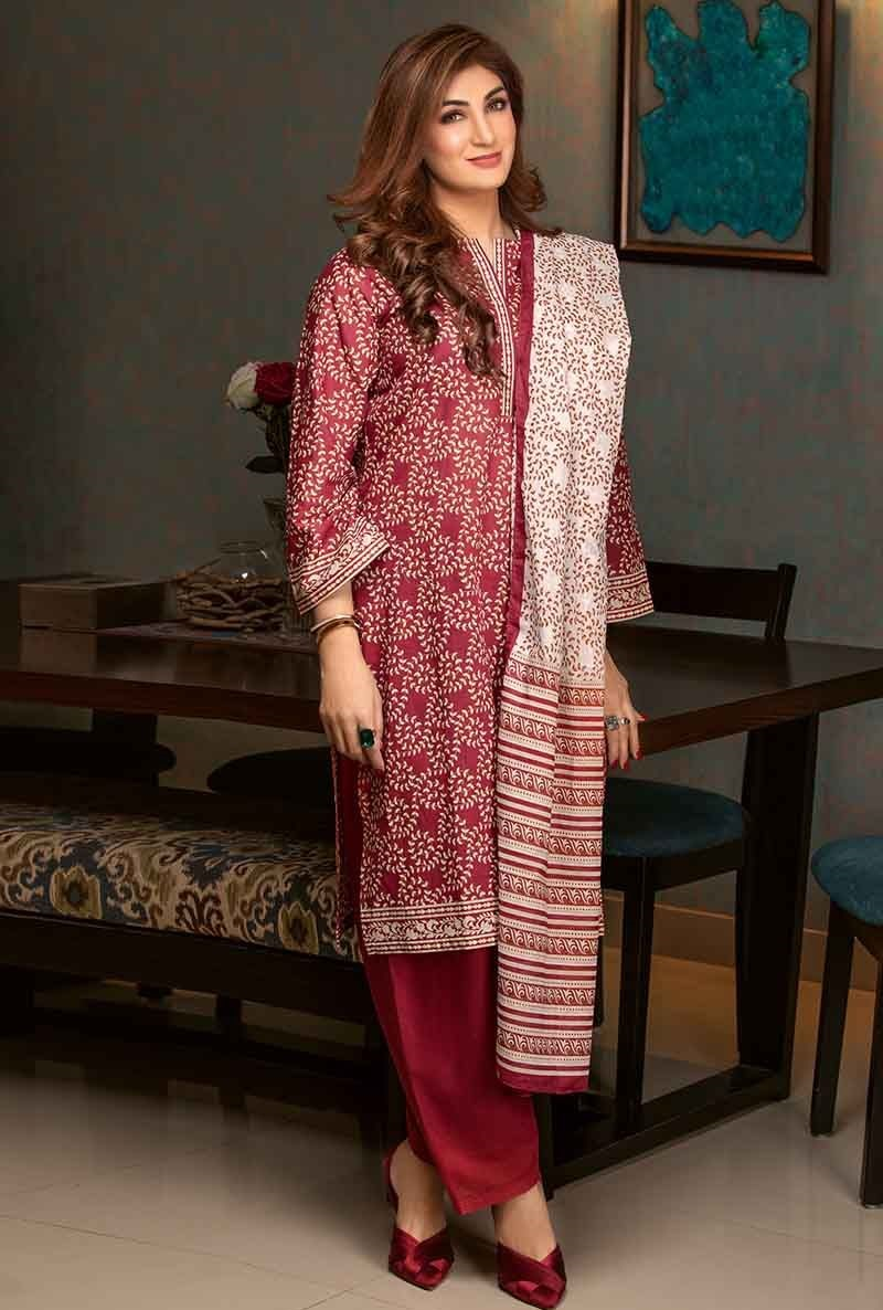 Red Three-Piece Lawn CL-485 A