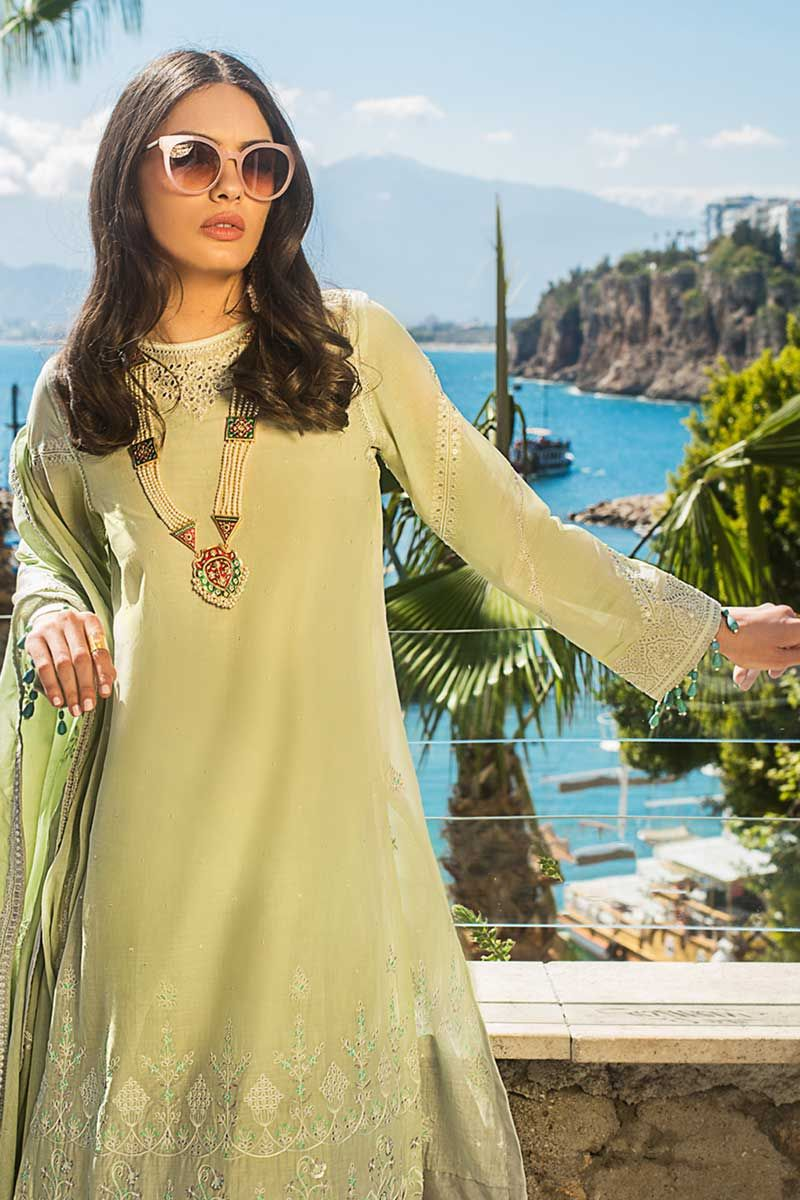 Beautiful green Eid suit by Gul Ahmed