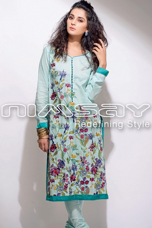 nimsay embroidered summer lawn collection 2014