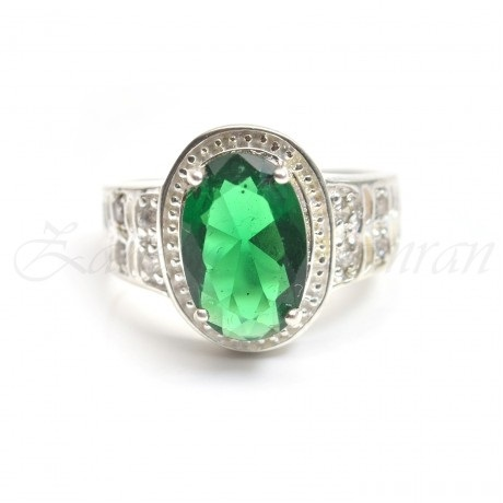 green ruby engagement ring