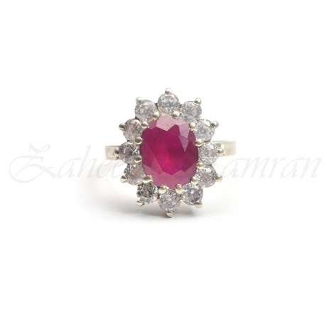 purple ruby engagement ring