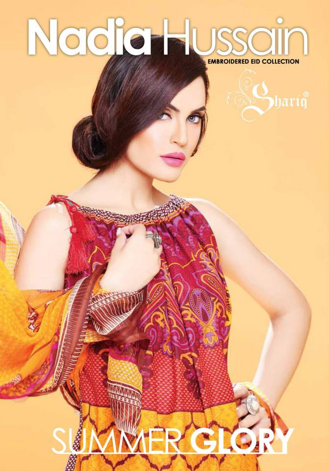 Embroidered Eid Dresses Collection 2014 By Nadia Hussain