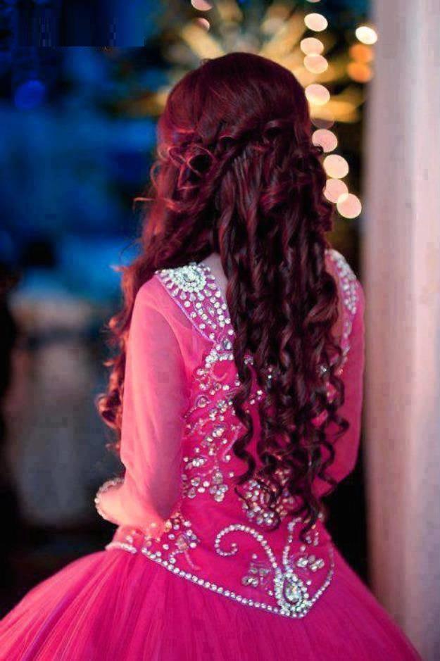 Pretty Pink Umbrella Eid Frock