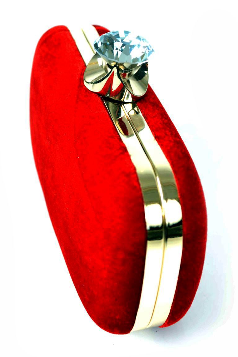 Fresh Red Bridal Clutch