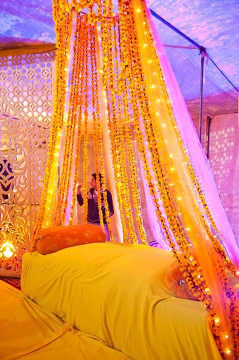 Mehndi Decoration Ideas At Home : Mehndi function stage decoration ideas