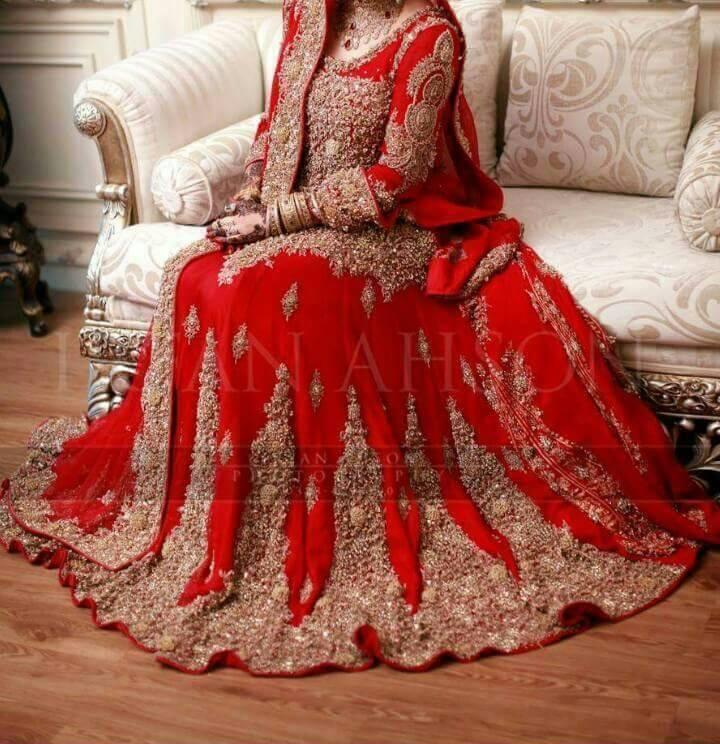Beautiful Embroidered Red Bridal Lehenga