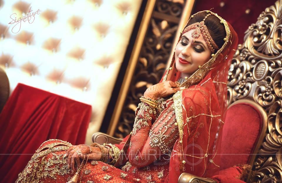 Red Gold Bridal Lehenga Design