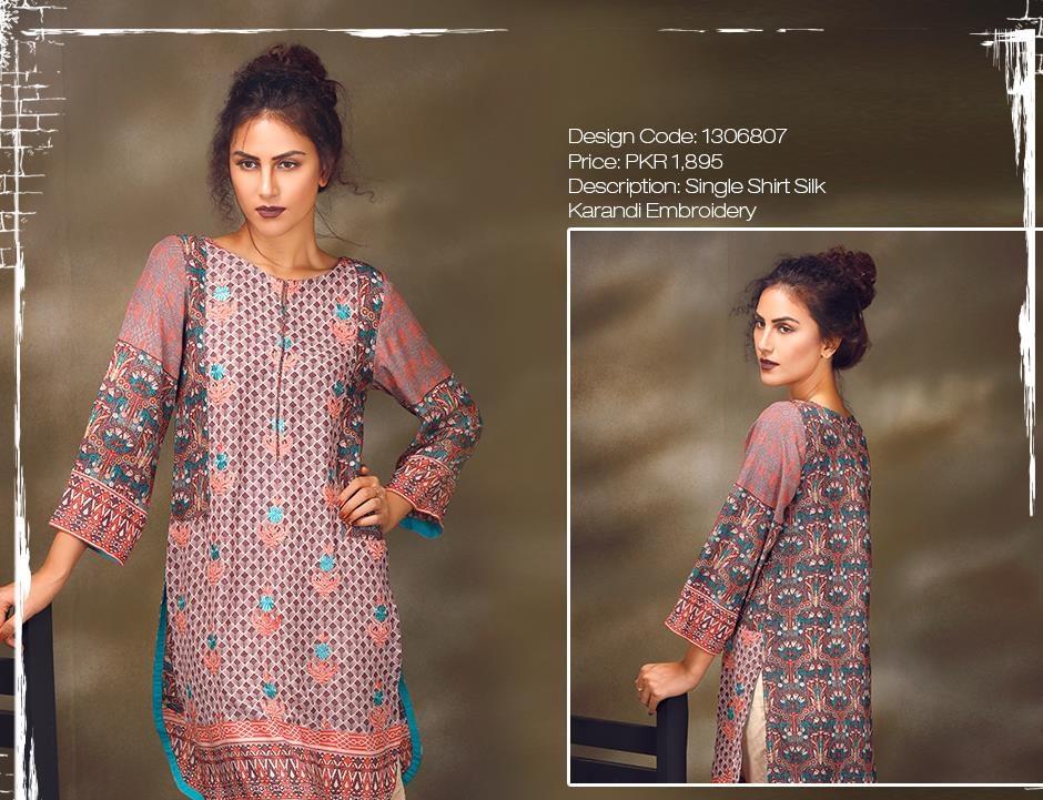 warda silk karandi winter shirts 2016 designs