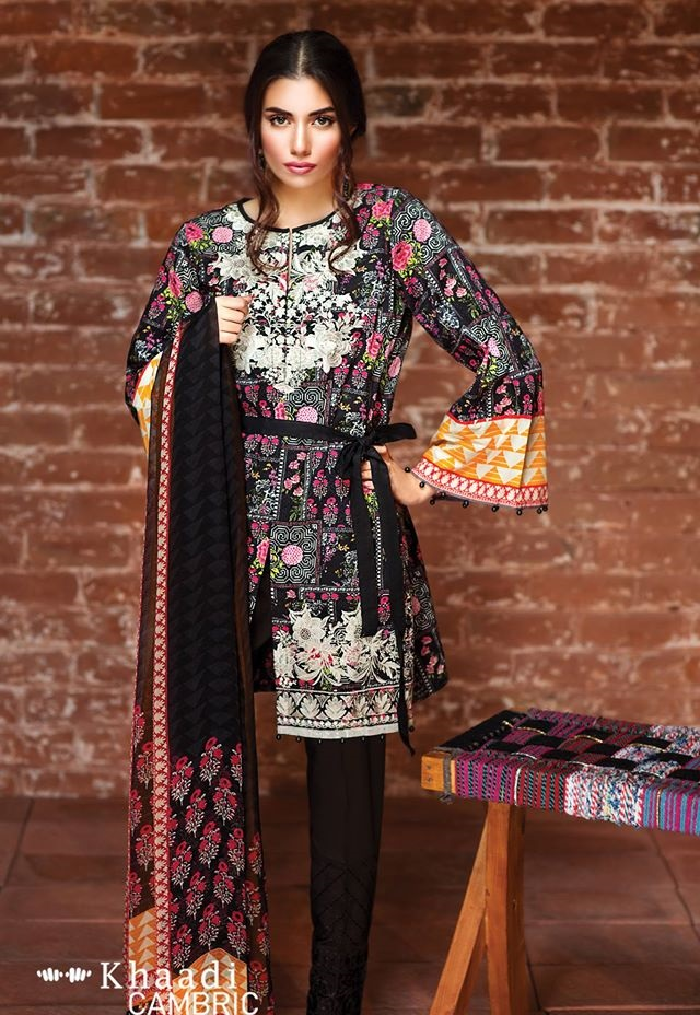 Khaadi Embroidered Suits 2016-2017
