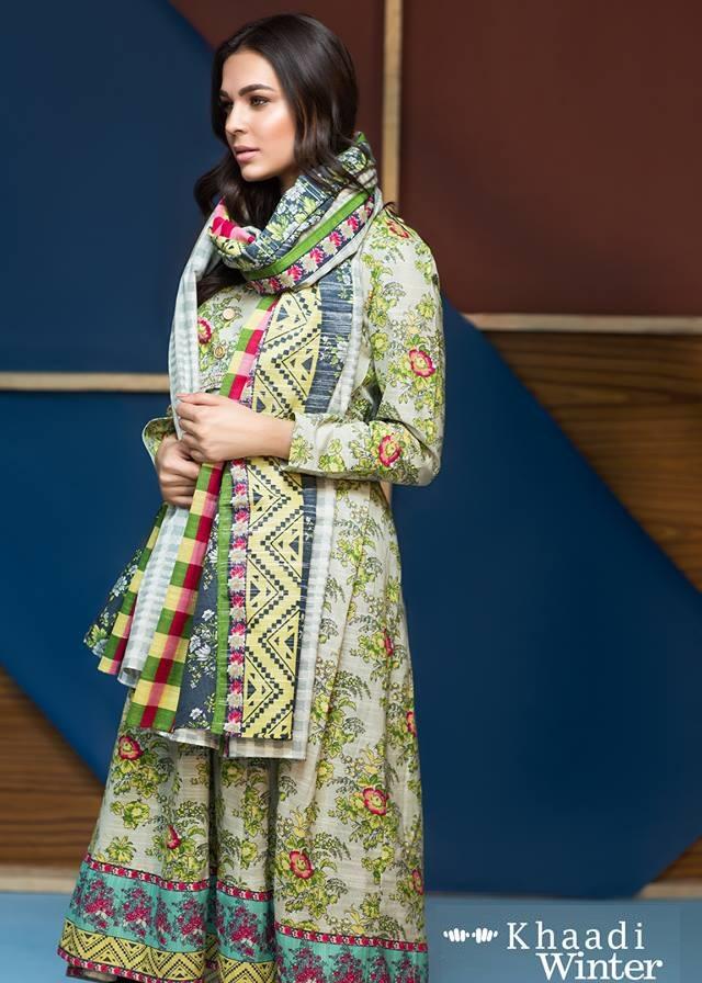 2 piece khaddar winter dress