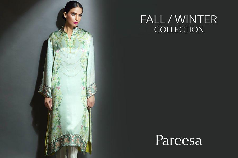 pareesa chenone silk winter dresses collection