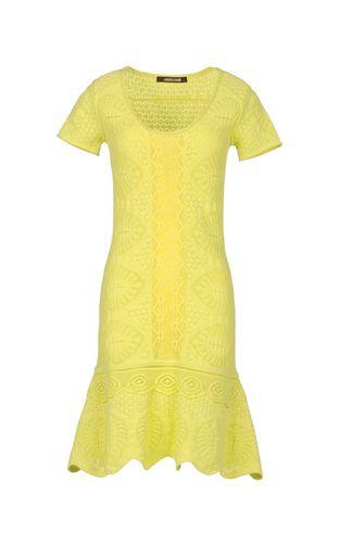 roberto cavalli yellow summer dress