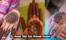 Elegant Round Tikki Mehndi Designs 2017 - Gol Tikka Mehndi Design Pictures