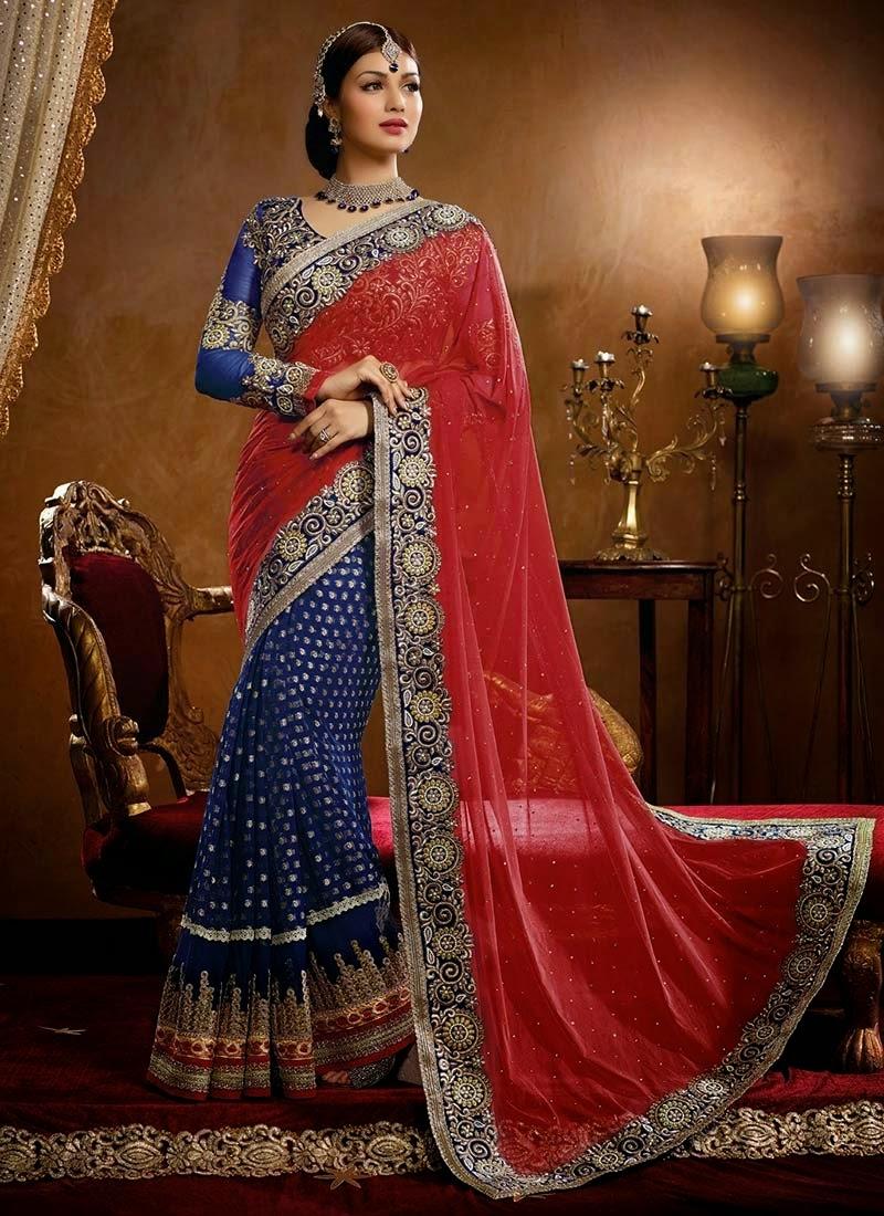 Designer-Embroidered-Indian-Bridal-Sarees (1)