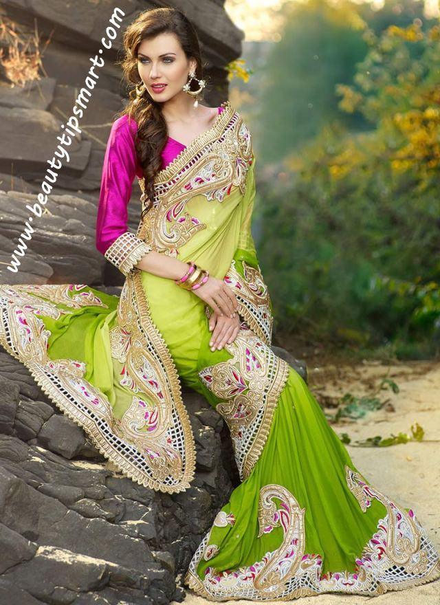 Designer-Embroidered-Indian-Bridal-Sarees (10)