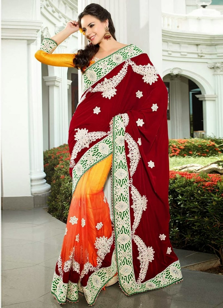 Designer-Embroidered-Indian-Bridal-Sarees (12)