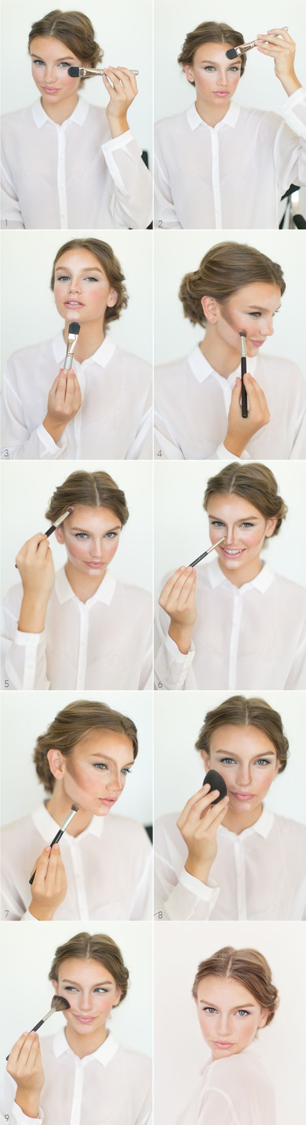makeup base contouring tutorial
