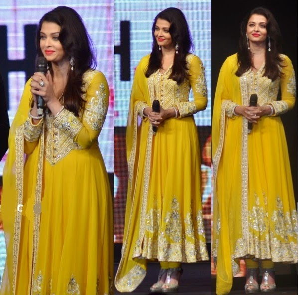 Aishwarya Rai in yellow frock