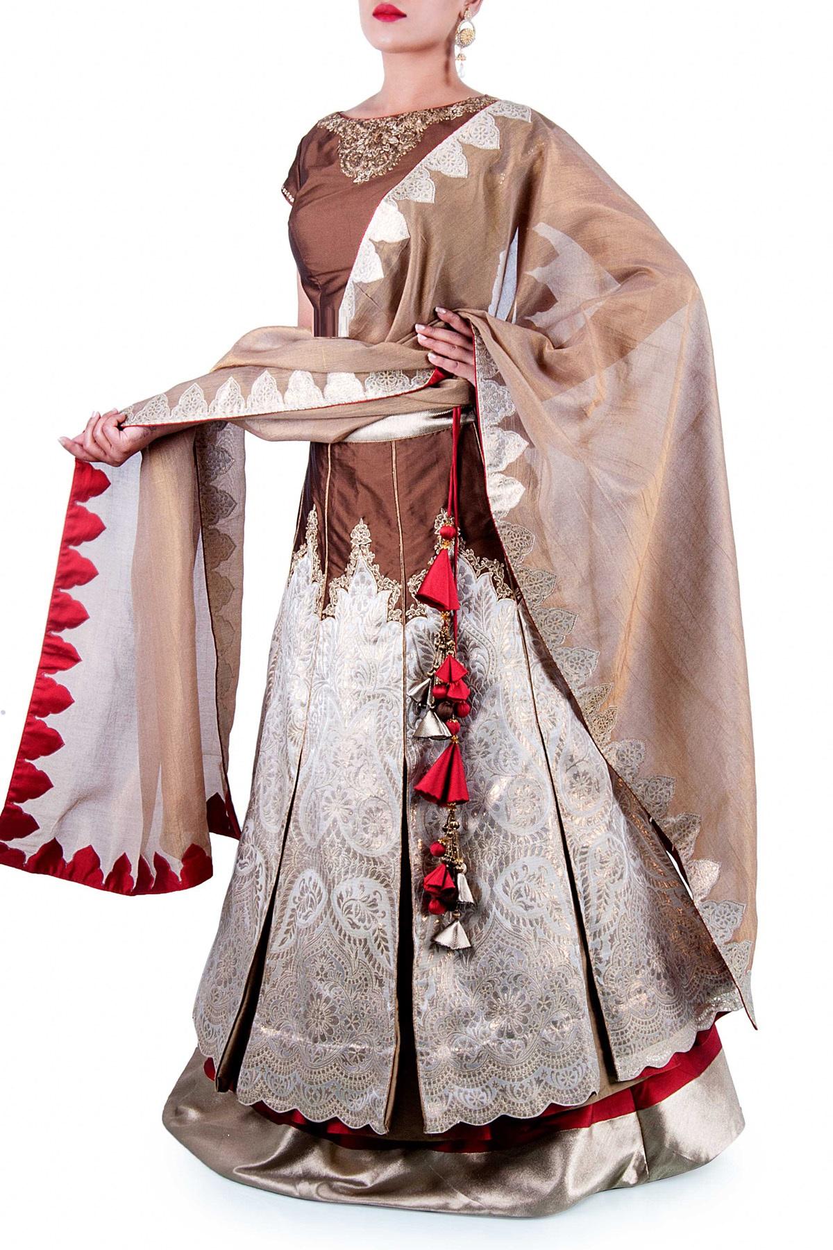 Banarasi Indian bridal lehenga choli