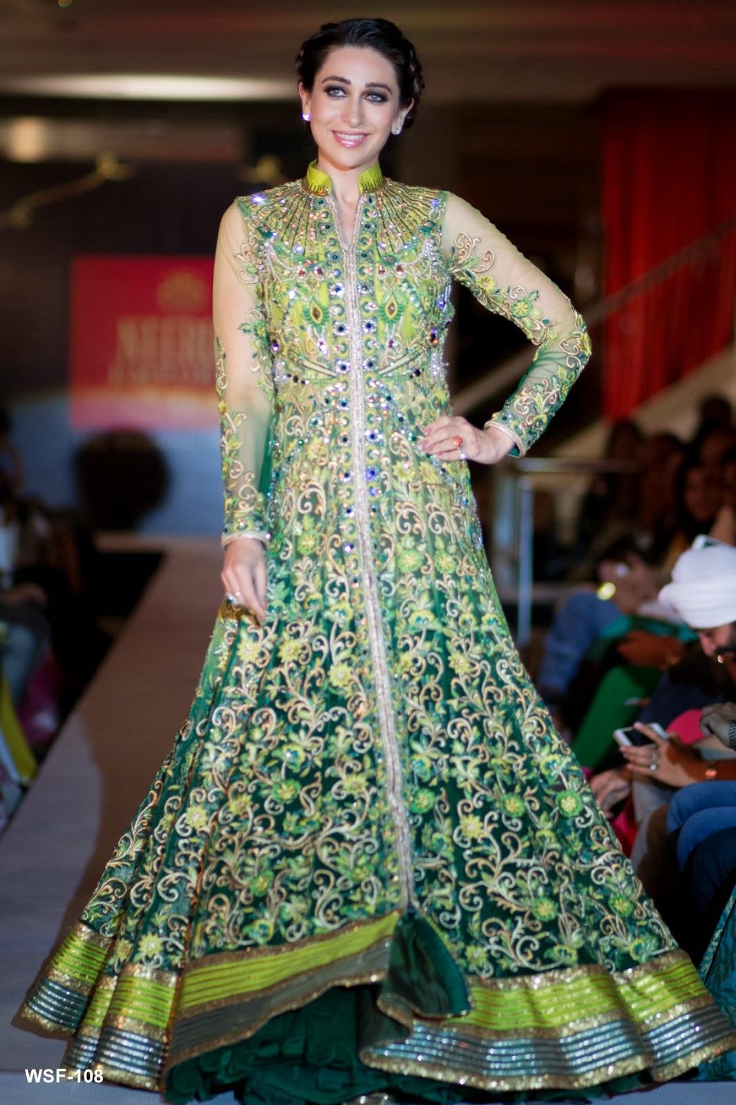 Karisma Kapoor in Green Bridal Dress