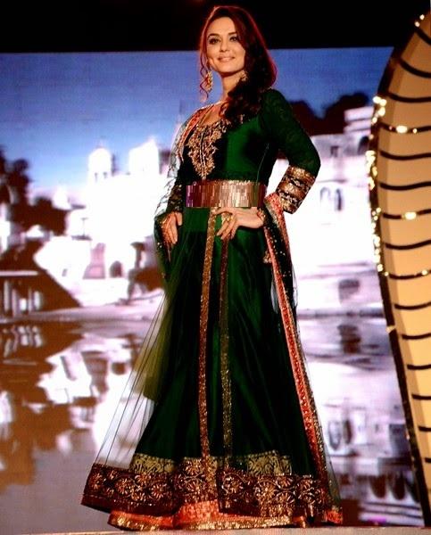 Preity Zinta in green bridal outfit