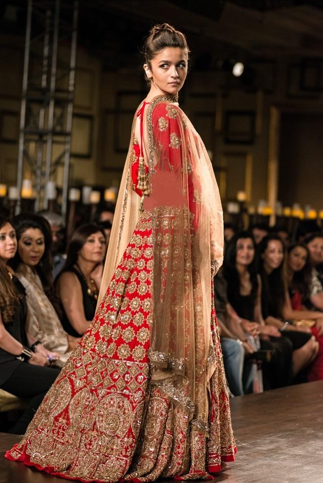 Alia Bhatt in Red Bridal dress