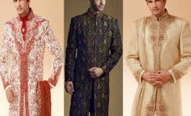 Indian Designer Wedding Wear Grooms' Dresses 2017 for Indian Dulhas/Grooms
