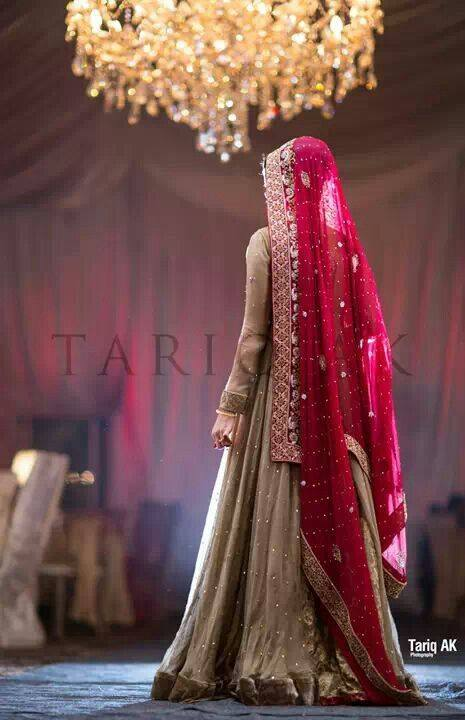 Designer Gold Red Bridal Dress