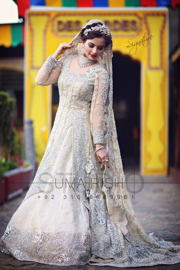 Royal White Colored Wedding dress