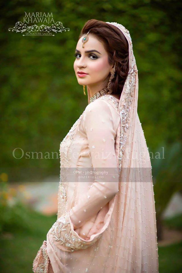 Designer light pink Bridal Dress