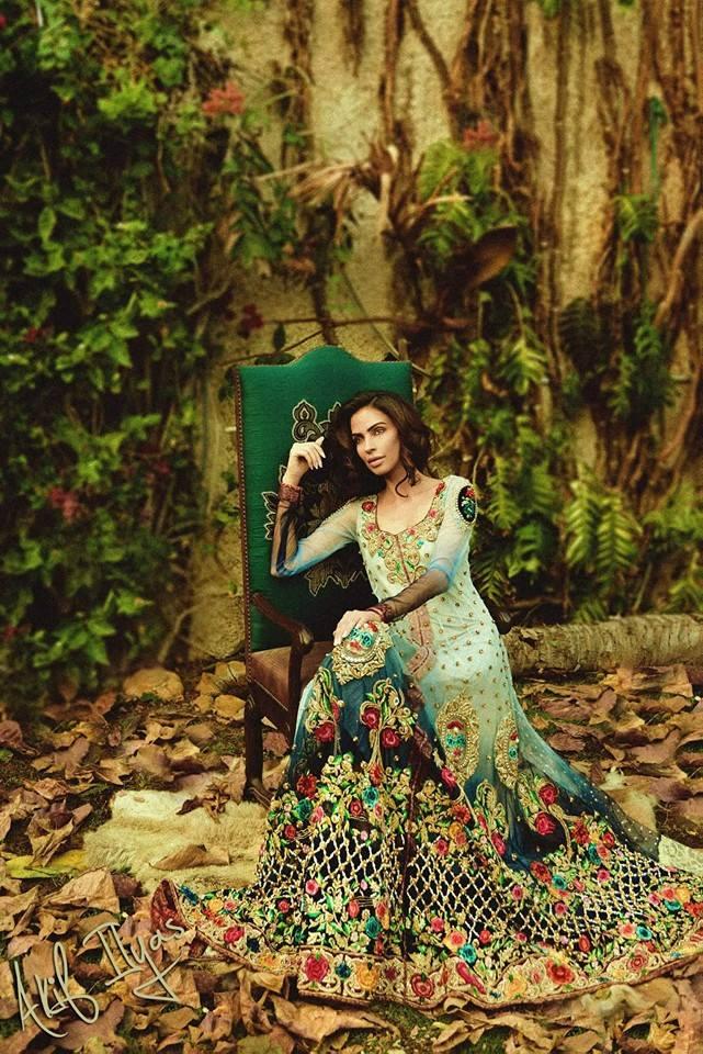 Pakistani Designer Blue Royal Bridal Dresses