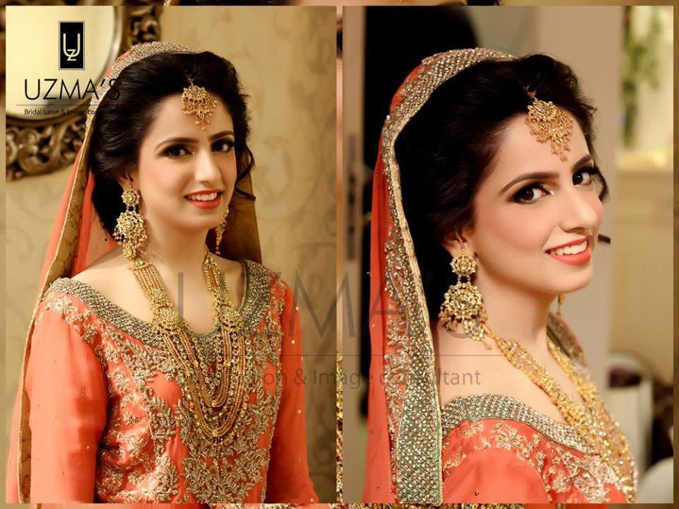 Designer Light Orange Bridal Dress