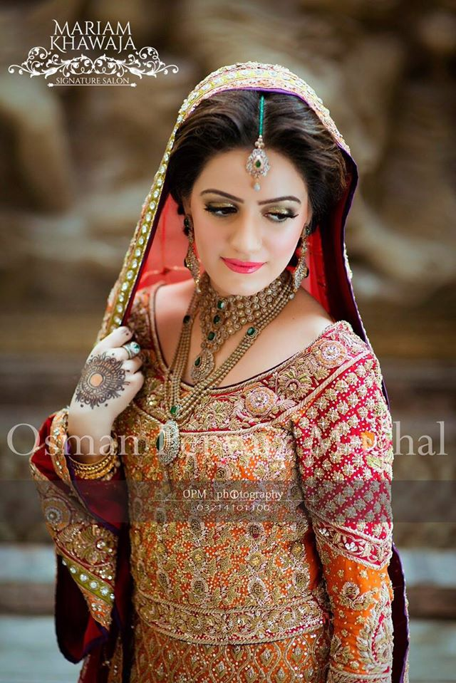 Pakistani Designer Orange Bridal Dress