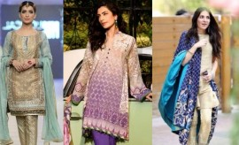 Latest Fashion of Short Shirts with Cigarette Pants 2017 in Pakistan