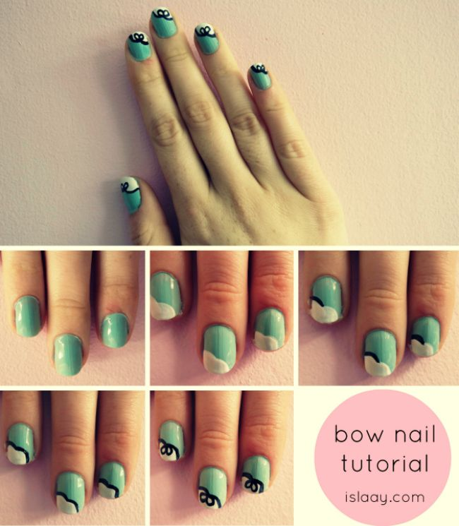 Best-Bow-Nail-Art-designs-with-Tutorials (14)