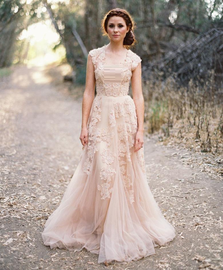 Light Pink Christian wedding gown