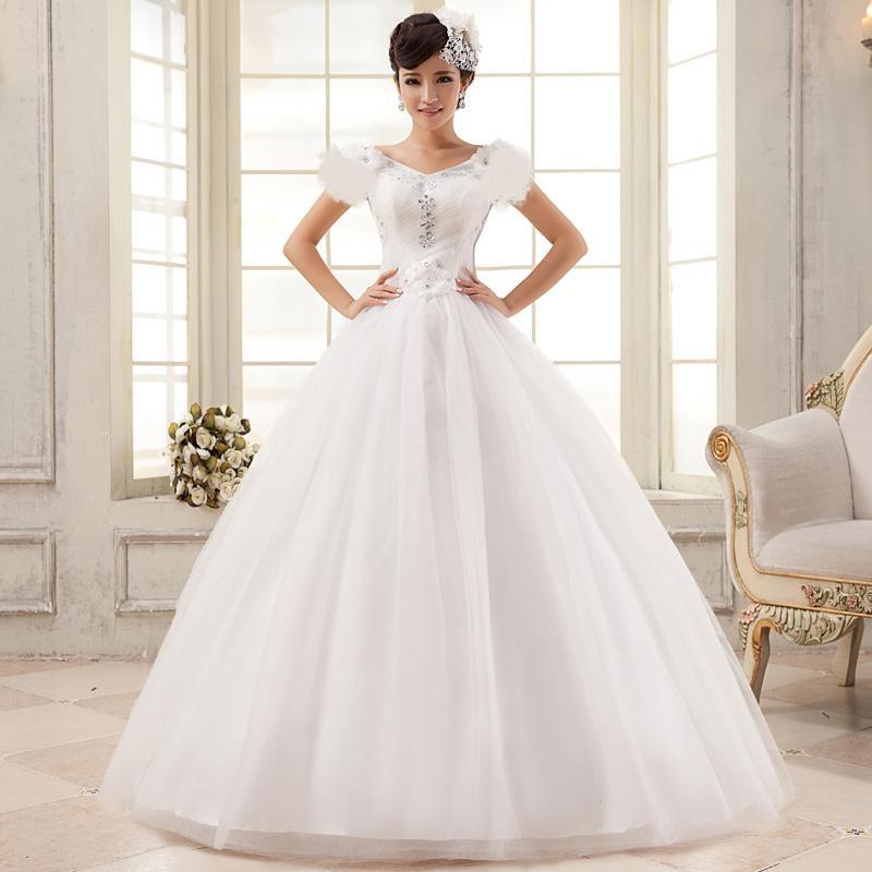 Bright White Christian wedding dress