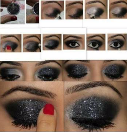 How-to-do-shimmery-face-makeup-tutorial (11)