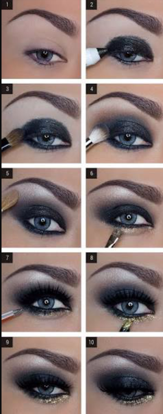 How-to-do-shimmery-face-makeup-tutorial (12)