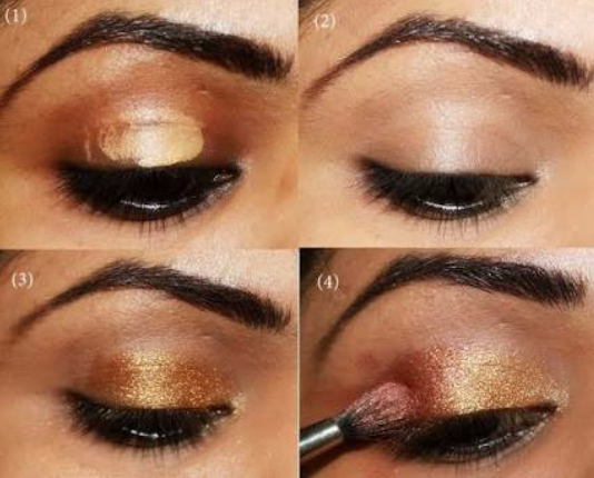 How-to-do-shimmery-face-makeup-tutorial (7)
