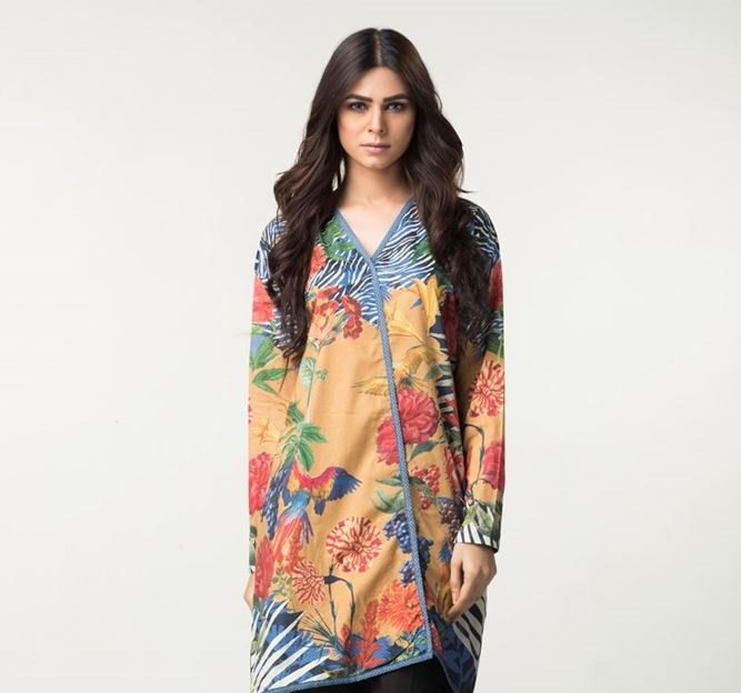 floral printed side cut top for winter